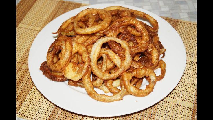 Луковые кольца. Рецепт приготовления луковых колец в кляре.