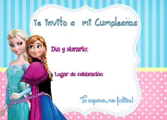 Divertida invitación para una fiesta de cumpleaños inspirada en la película de Disney Frozen
