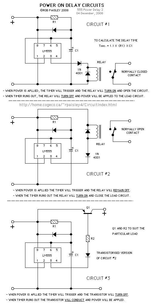 555 timer delay circuits