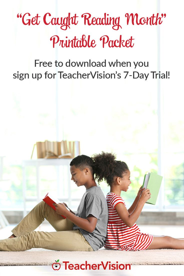 This printable workbook is filled with engaging reading activities, games, and lesson plans that get kids excited about books. Explore story elements and characters, try new book report ideas, and establish reading buddies with these classroom resources. Perfect for Get Caught Reading Month or Summer Reading! (Grades K-5) Download it free when you sign up for TeacherVision's 7-Day Trial.