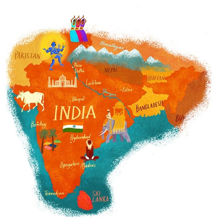 Dermot Flynn India Map 26 best
