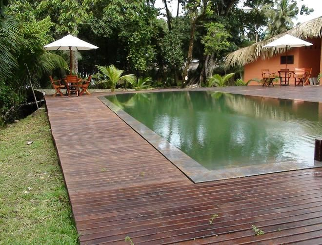 17 best images about piscina con deck on pinterest for Alberca con jardin