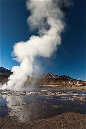 Voyage au Chili, désert de l'Atacama, geysers del Tatio ~ Trip in Chile, desert of Atacama, geysers del Tatio