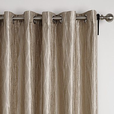 (Two Panels) Neoclassical Overlapping Curves Energy Saving Curtain - USD $ 34.99