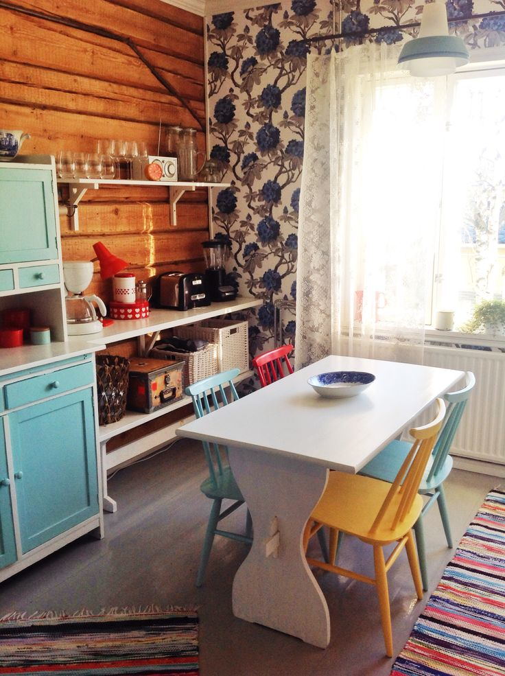 Wooden floors, log walls, 1930's house in Finland