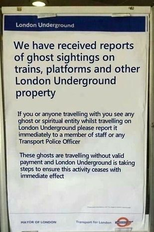 2013 was also the year of the fake TfL sign. | 18 Wonderfully Weird Things That Happened On The London Underground In 2013