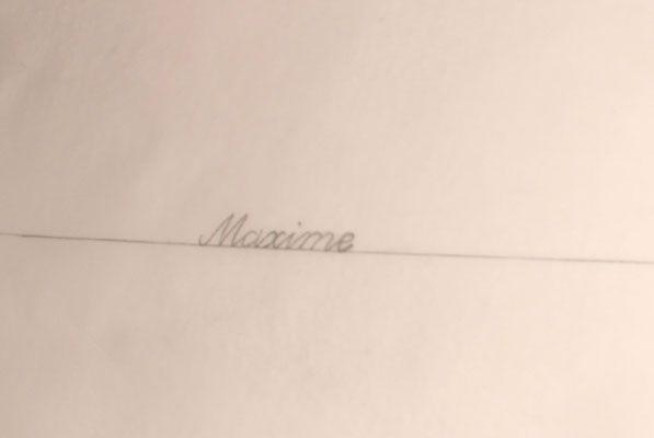 Hier ist der Name klar geschrieben. Adler Einkopfmaschine mit Lochkarte - 1000-stiche