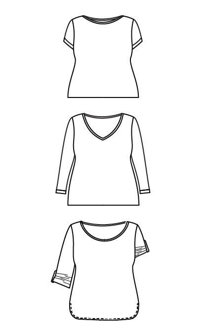 Concord T-Shirt PDF pattern - Cashmerette Patterns - 2