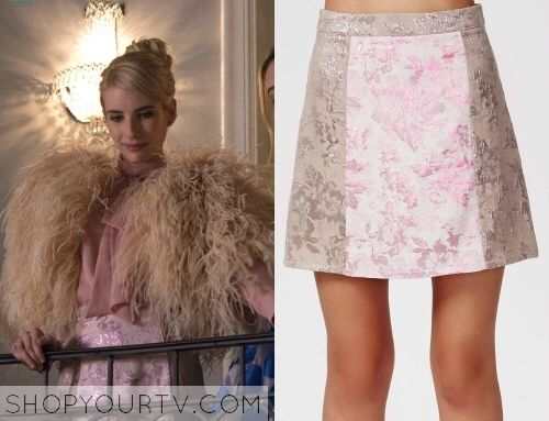 "Missguided ""Jarvine Contrast Rose Brocade A-Line Skirt Pink"