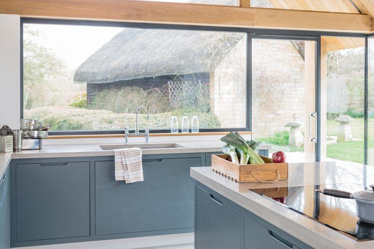 The Vine House, Minimalist, Modern Kitchen - Sustainable Kitchens Island Design Inspiration