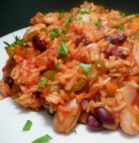 Vegetarian Jambalaya....Just made this for dinner! I will keep you posted as to how it turns out!