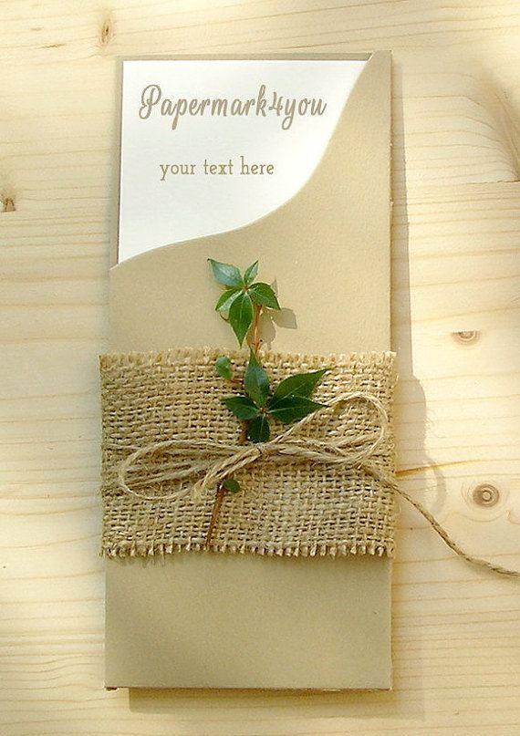 DIY Pocket Invitation Kit_Rustic Invitation by PaperMark4You