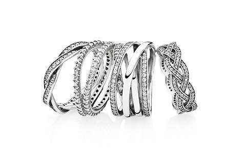 Pandora has the best stacking rings! They are so much fun to wear!