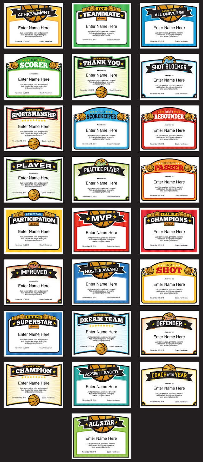Best 25 award certificates ideas on pinterest free printable basketball award certificate templates image xflitez Gallery