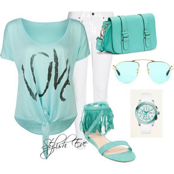 Women's outfits for summer 2013 | Blue-Spring-Summer-2013-Outfits-for-Women-by-Stylish-Eve_62