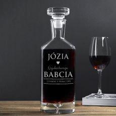 Grawerowana karafka do wina NAJUKOCHAŃSZA BABCIA idealny na urodziny