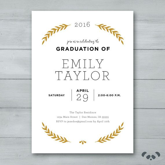 Printable Graduation Party invitation is 4x6 or 5x7. I use a minimalistic style to design that is clean and modern and even easier to print at