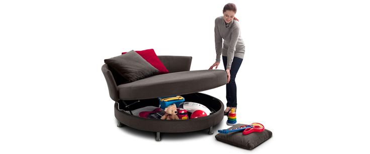 King Delta Circle Sofa - with under storage
