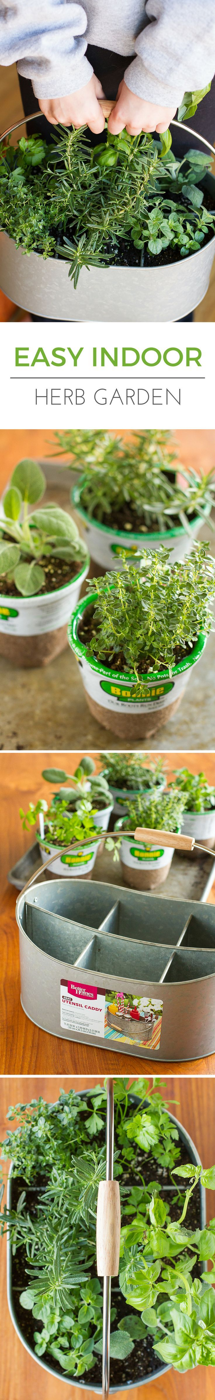 Easy Indoor Herb Garden -- I was an indoor container gardening failure, until I decided a different approach was in order. Find out how you can create this simple indoor herb garden in under 10 minutes! | via /unsophisticook/ on http://unsophisticook.com