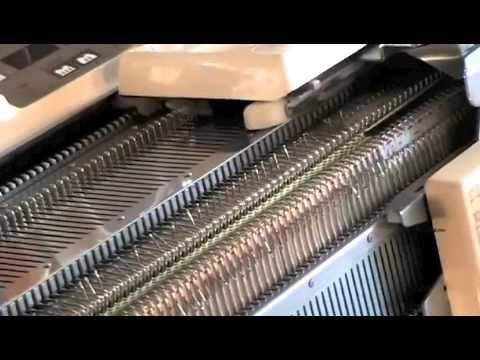Macchina maglieria collo in tubolare - YouTube