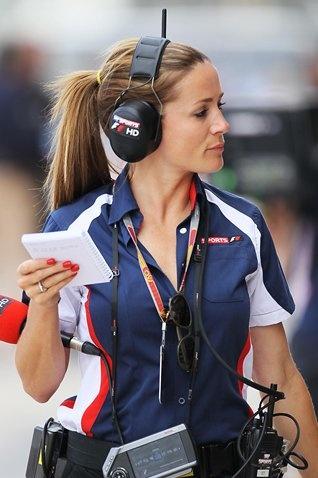 Natalie Pinkham (GBR) Sky TV.  Formula One World Championship, Rd8, European Grand Prix, Practice, Valencia, Spain, Friday, 22 June 2012