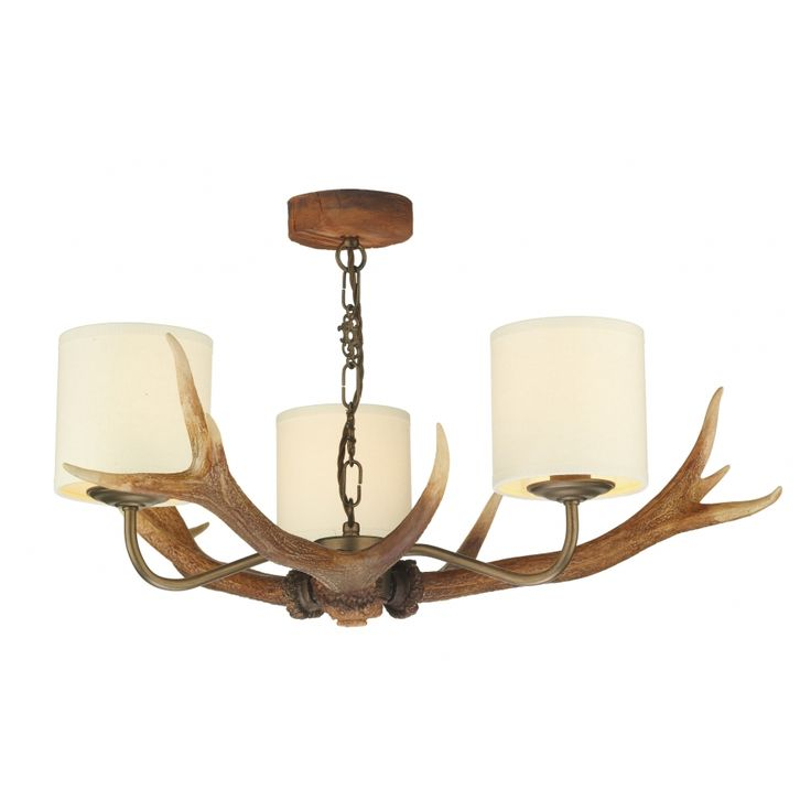 33 best antler lighting images on pinterest david hunt light david hunt lighting antler 3 light ceiling fitting with cream shades mozeypictures Choice Image