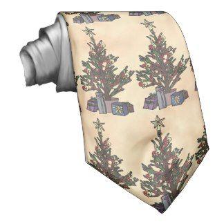 Tree, patterned tie