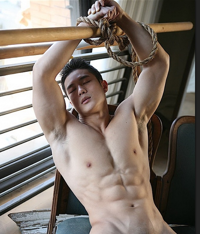 Hot guy tied