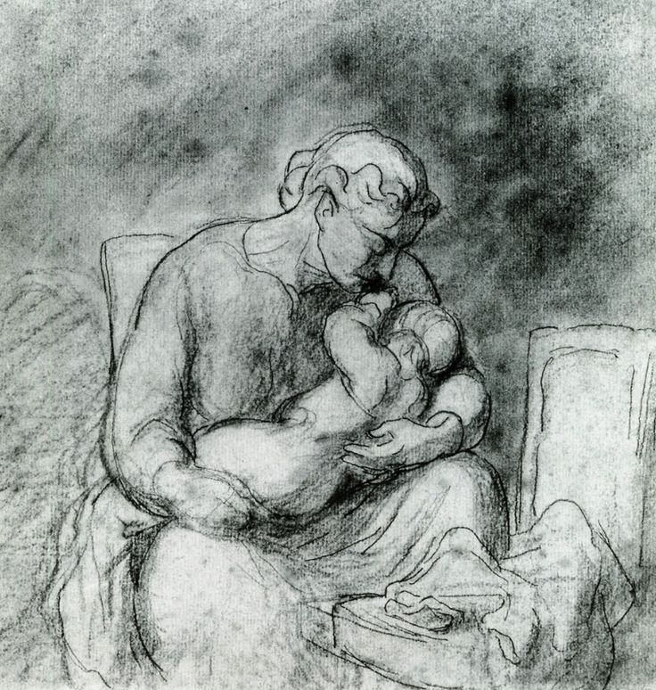 bofransson:  Mother and Child Honore Daumier