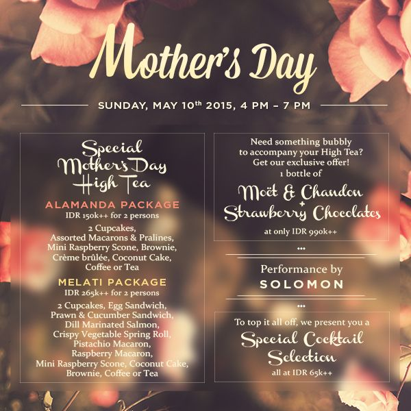 Come and enjoy #special #package from metis to #celebrate #mother's #day with #smile and #fun #guide #metis #metisbali #mothersday #balithisweek #bali