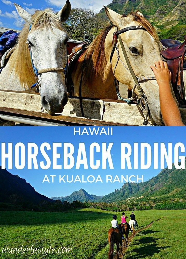 Horseback riding through famous movie sites (50 First Dates, Godzilla, Pearl Harbor and many more) at Kualoa Ranch (Hawaii) | Wanderlustyle.com
