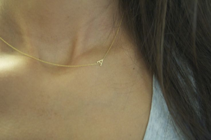 Dainty Necklace by Maya Brenner - golden initials                                                                                                                                                     More