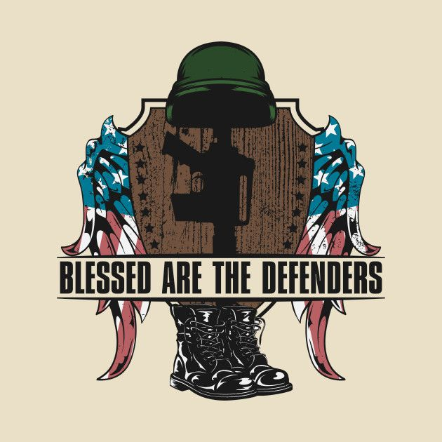 Check out this awesome 'Blessed+Are+The+Defenders' design on @TeePublic!