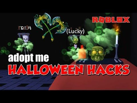 Adopt Me Halloween Building Hacks Youtube Halloween Hacks Adoption Halloween