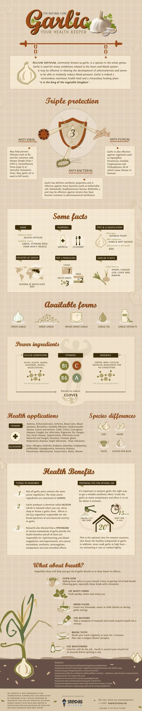 Health Benefits of Garlic...I just read this with SERIOUS garlic breath from dinner ;)