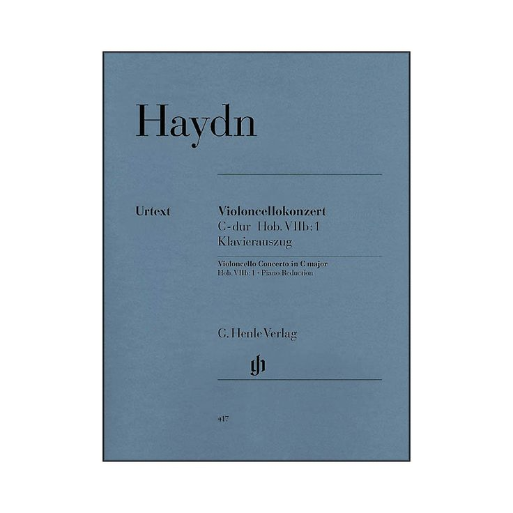 G. Henle Verlag Concerto for Violoncello and Orchestra C Major Hob.VIIb:1 By Haydn