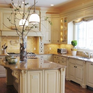 Colored Kitchen Cabinets Tuscan Design Tuscany Decor