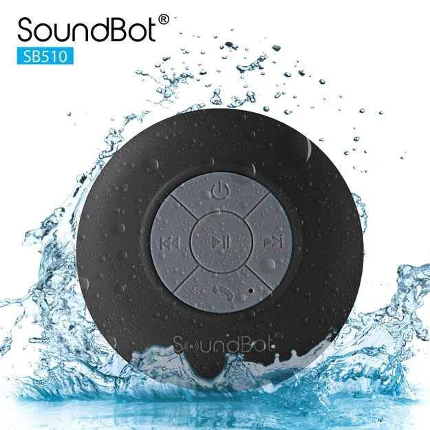 The Soundbot water resistant speaker ($11.79) that uses bluetooth to play music or make phone calls.