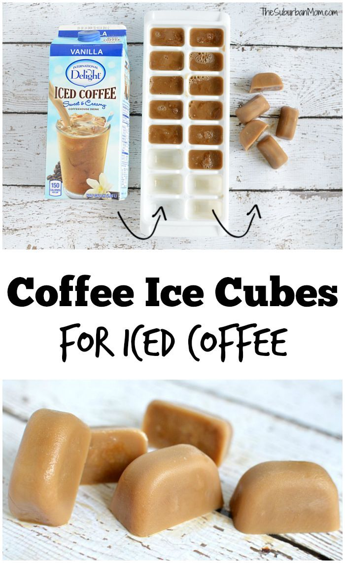 Coffee Hack  Hate watered down iced coffee? Make coffee ice cubes to keep the flavor going strong.