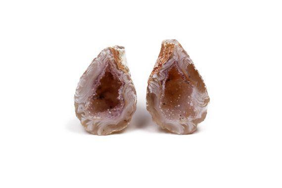 Rock Geode Decor Agate Geode Crystal Decor by UnearthedGemstones