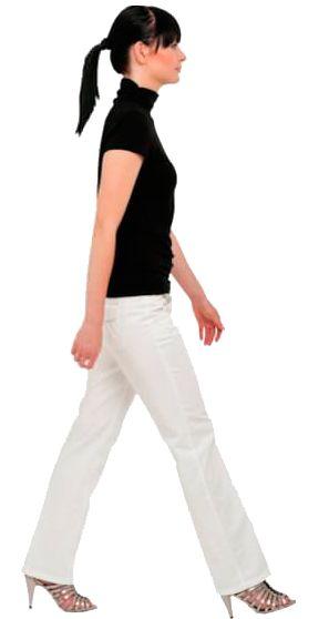 cutout woman walking
