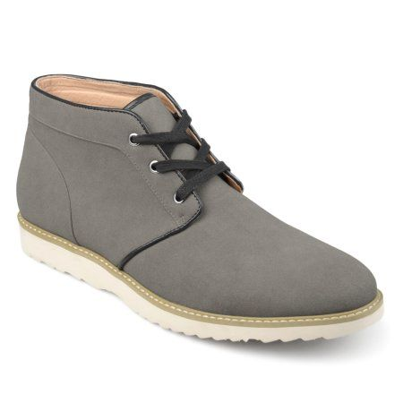 Territory Men's Lace-up Faux Suede Chukka Boots, Size: 10.5, Gray