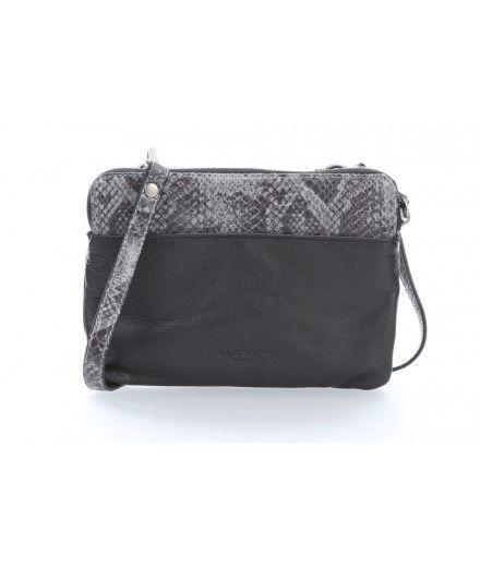 Liebeskind Snake Karen Shoulder Bag grained cowhide black - 5006881-9999 - Designer Bags Shop - wardow.com