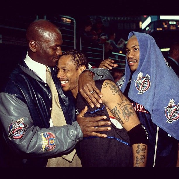 Mike, Allen & Steph, '02 All Star Weekend.