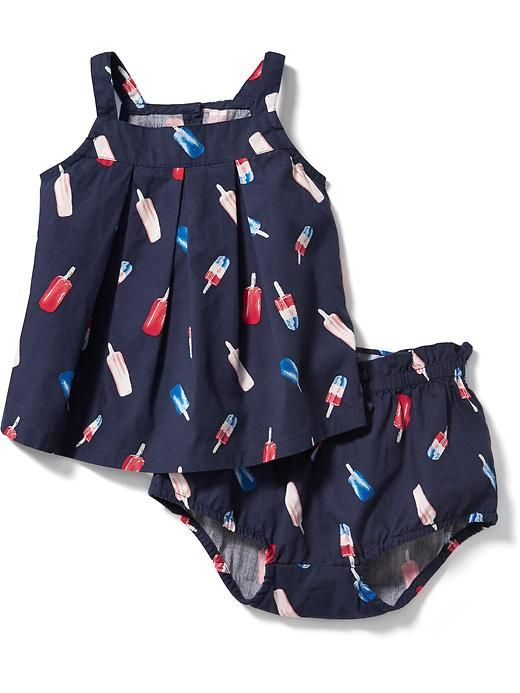 Printed Tank & Bloomers Set for Baby Product Image