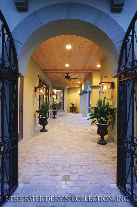 29 best images about entries and foyers lovely first for Courtyard entry house plans