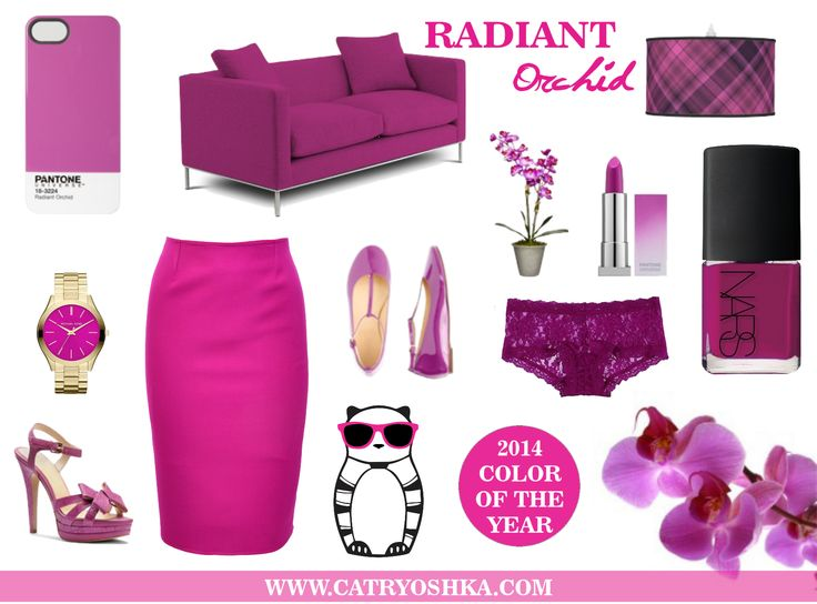 Radiant Orchid 2014 Color of the year www.catryoshka.com