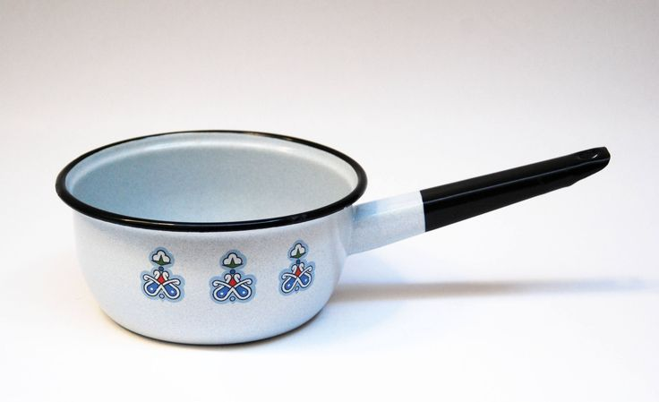 soviet enamel kettle vintage saucepan pot with handle pot rustic kitchen enamel cookware kitchenware Vintage Housewares seventies egg boiler by RetroTeapots on Etsy https://www.etsy.com/listing/525045653/soviet-enamel-kettle-vintage-saucepan