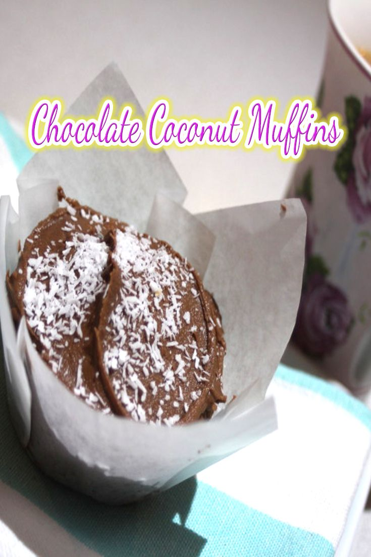 Chocolate Coconut Muffins – yes please!  Especially when they are so soft and moist, they are perfect for lunchboxes and freeze perfectly well.  This is a great all round recipe to whip up.