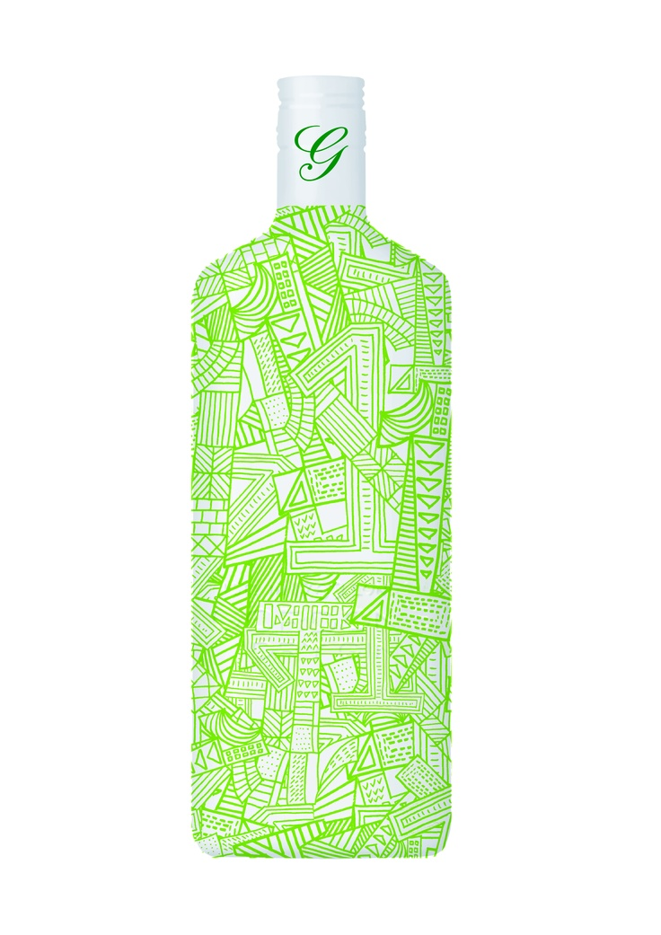 No. 1 of 10 Green Bottles available exclusively at Selfridges. This design reflects the eclectic nature of The Conran Shop. You may have spotted the number one in the pattern – this is to celebrate that Gordon's is the UK's favourite gin brand.*   (*Source: AC Nielsen)